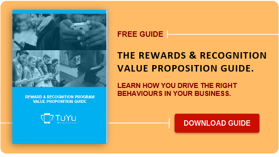 Reward and recognition program value proposition